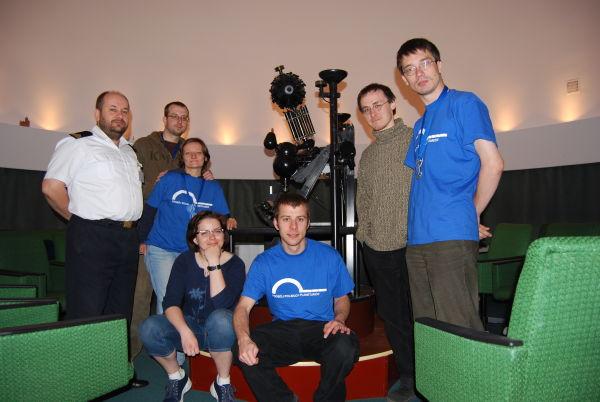 Ekipa PPP w planetarium Akademii Marynarki Wojennej w Gdyni