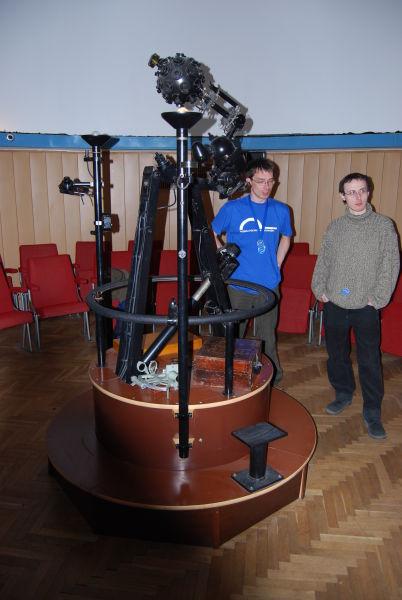 Projektor ZKP 1 w planetarium Akademii Morskiej w Gdyni (fot. Piotr Nyczka)