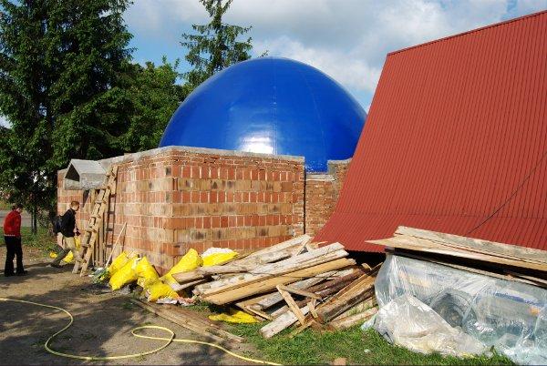 Planetarium w budowie