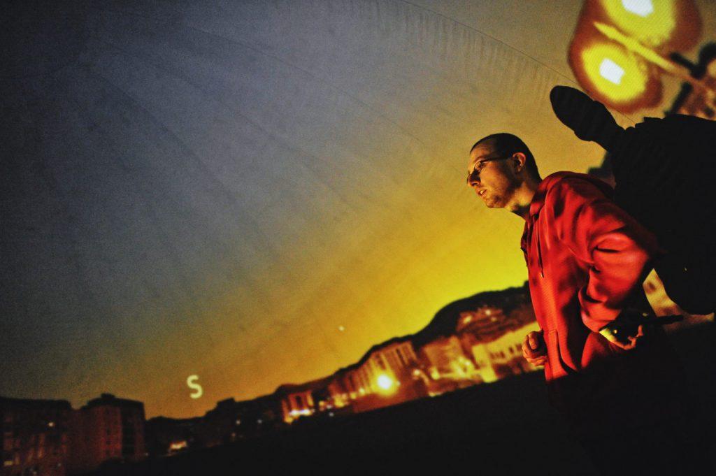 Podczas projekcji (fot. Krzysztof Norbert Wolf - http://foto-arte7.eu)
