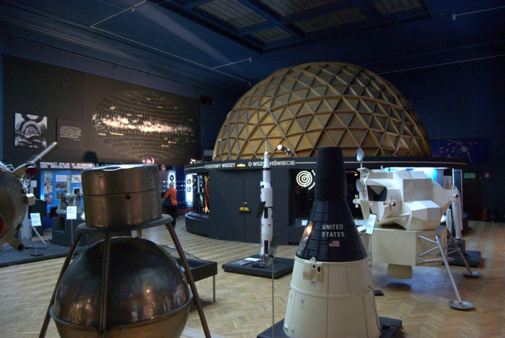 Ogólny widok planetarium w Muzeum Techniki w PKiN